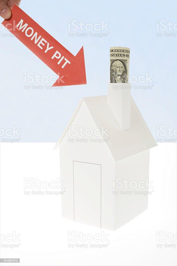Money pit stock photo