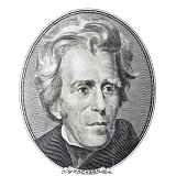 Money. President Andrew Jackson portrait