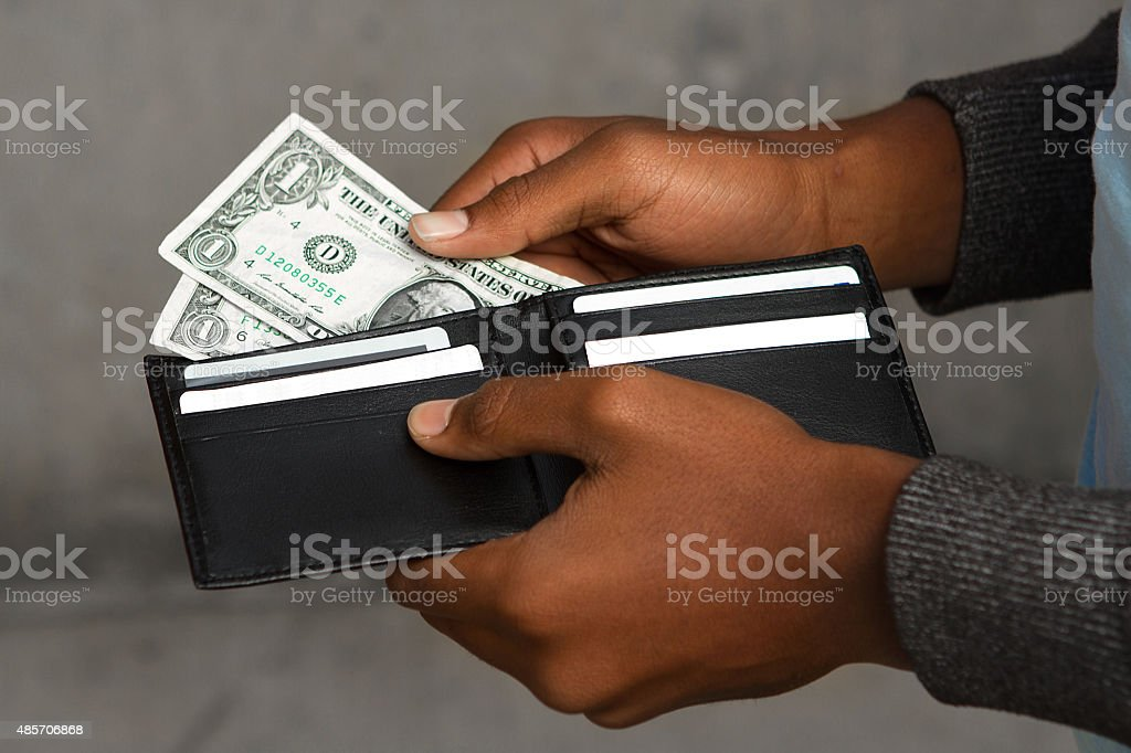Money problems or payments. stock photo