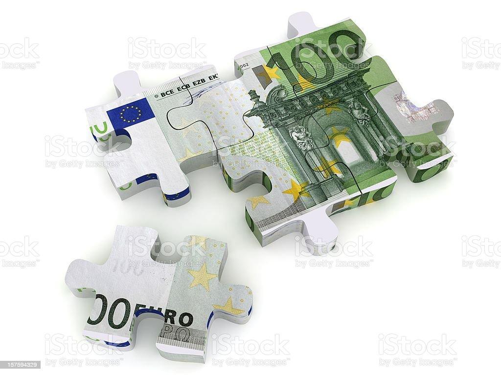 Money Puzzle - Euro royalty-free stock photo