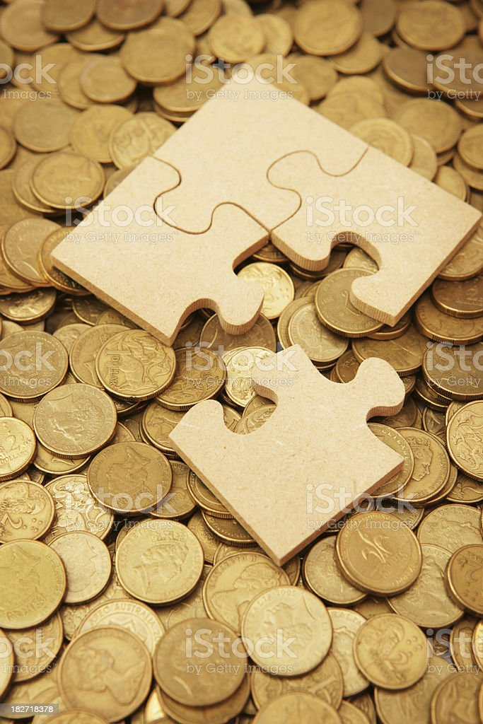 Money Puzzle royalty-free stock photo