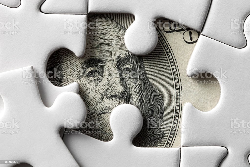 Money puzzle stock photo