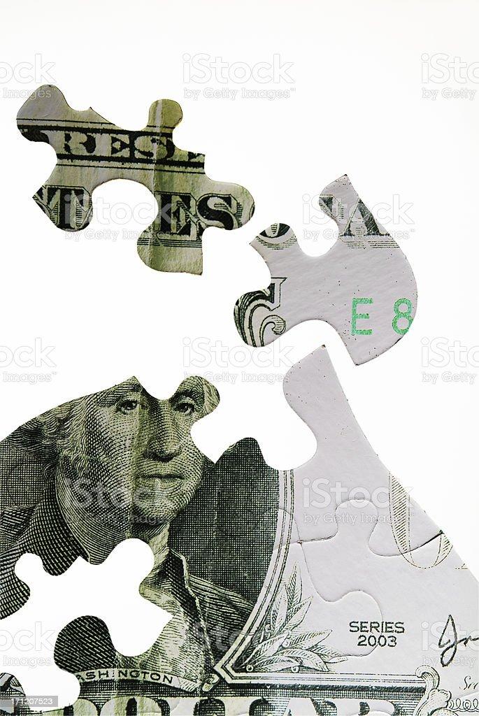 Money Puzzle Series II royalty-free stock photo