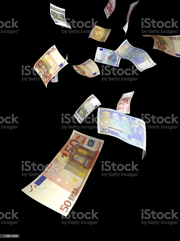 money rain black royalty-free stock photo
