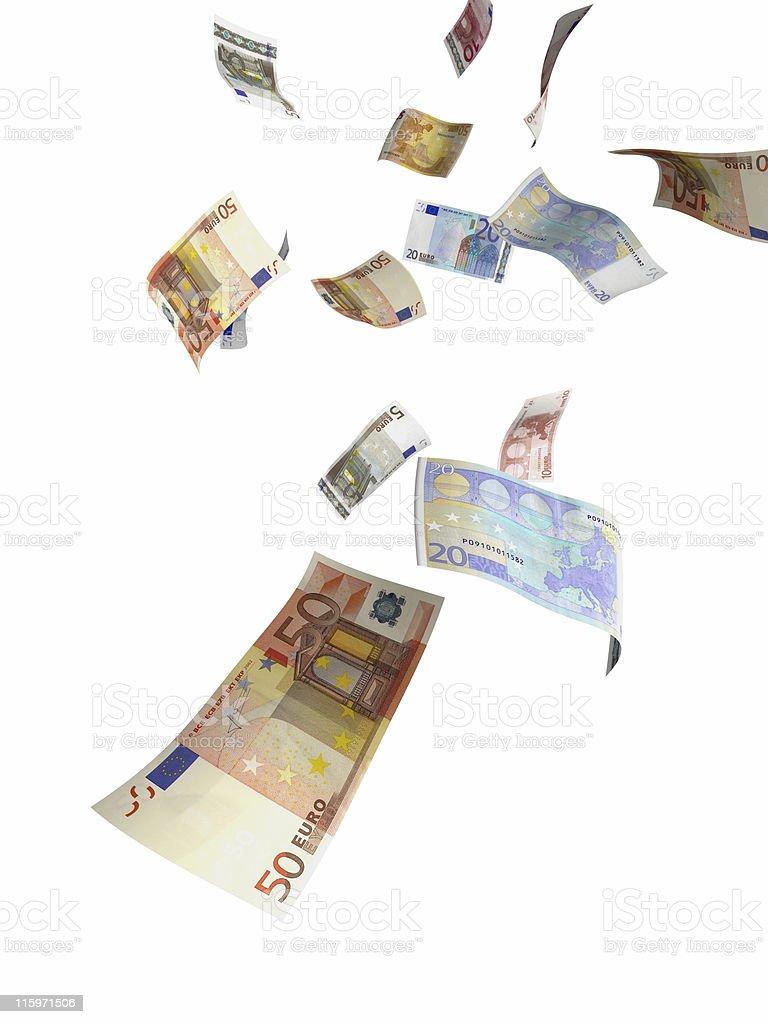 money rain royalty-free stock photo
