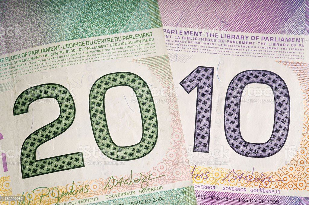 Money resolutions for 2010 royalty-free stock photo