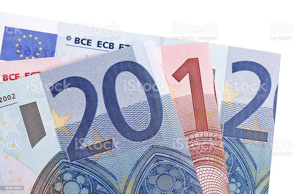 Money resolutions for 2012 royalty-free stock photo
