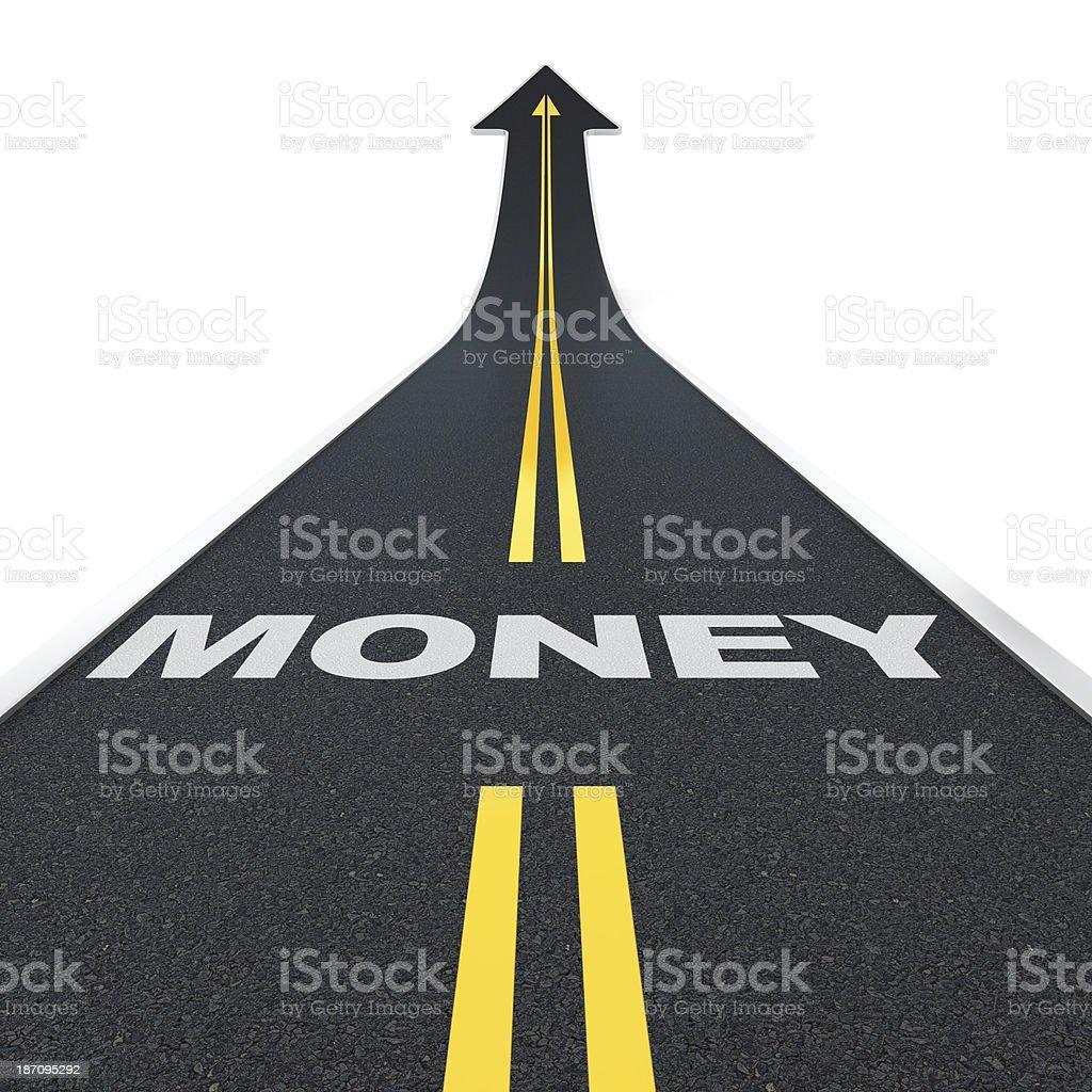Money road stock photo
