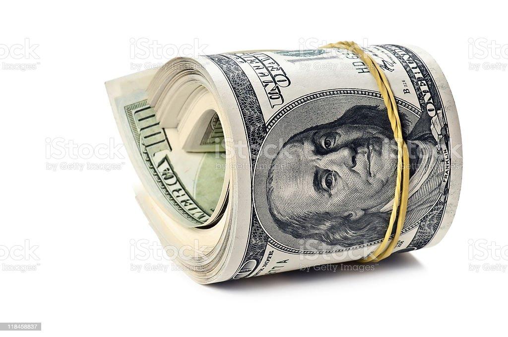 money roll stock photo