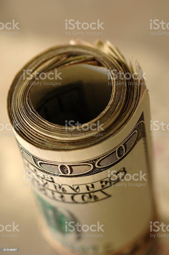 Fajo de billetes foto de stock libre de derechos