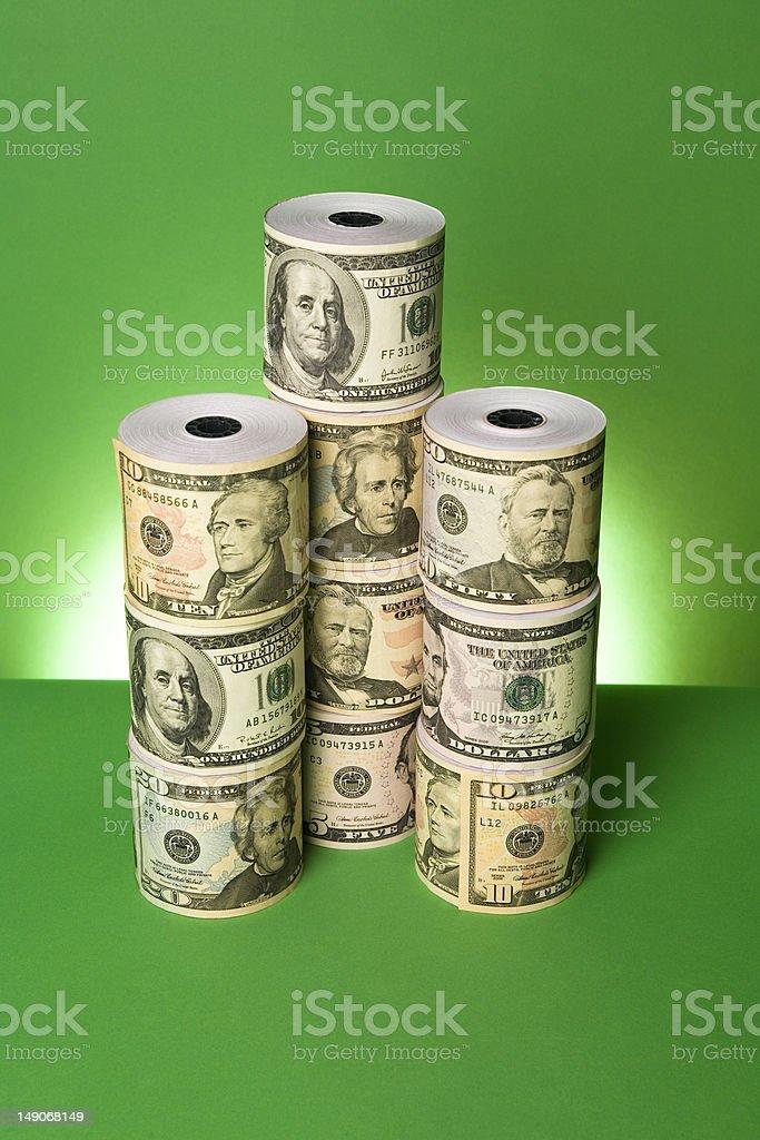 Money Rolls royalty-free stock photo