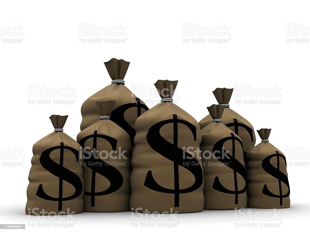money sacks royalty-free stock photo