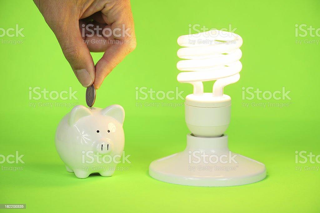 Money Saving CFL Bulb stock photo