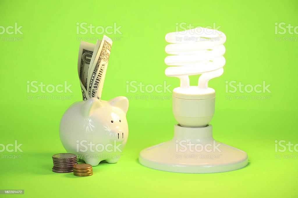 Money Saving CFL Light Bulb royalty-free stock photo