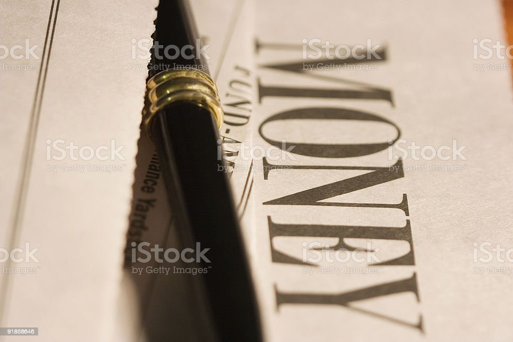 Money section royalty-free stock photo