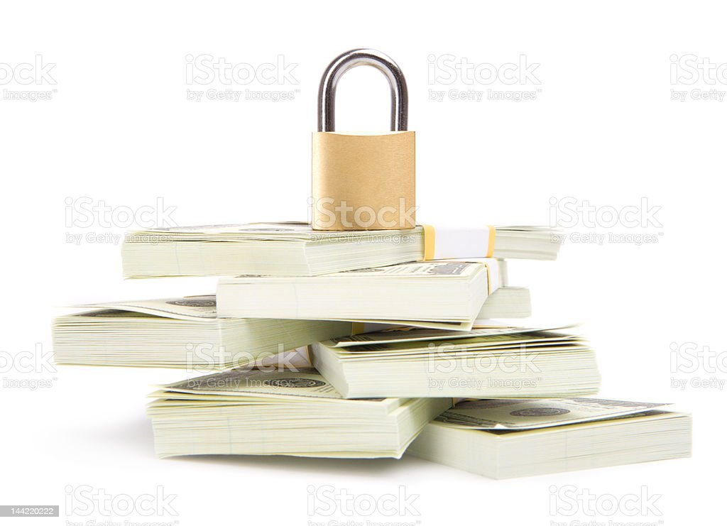 Money security royalty-free stock photo