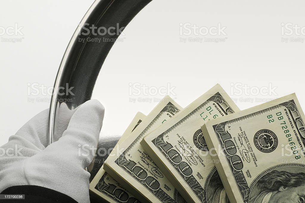 Money Served royalty-free stock photo