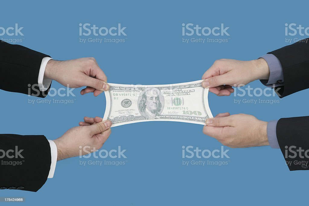 Money Sharing royalty-free stock photo