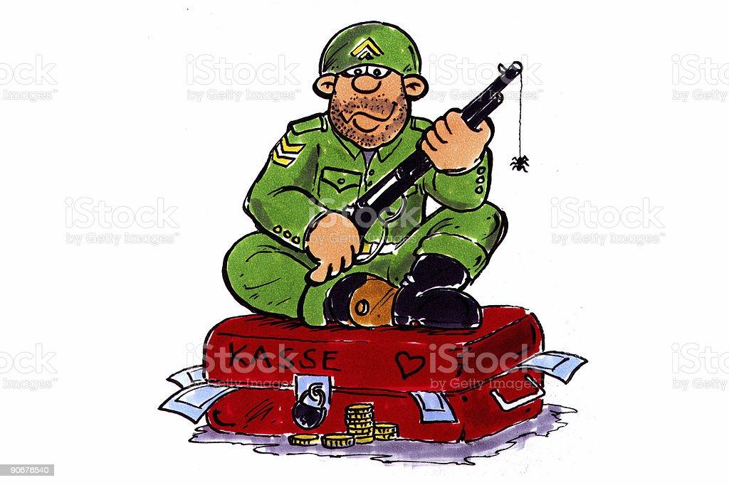 money Soldier stock photo