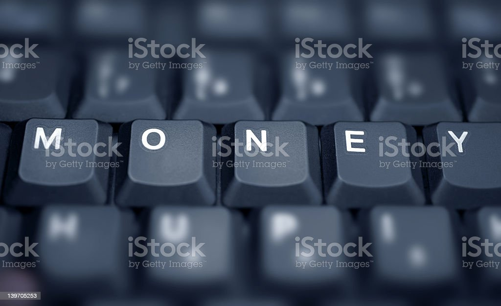Money.... spelled in keys on a laptop royalty-free stock photo