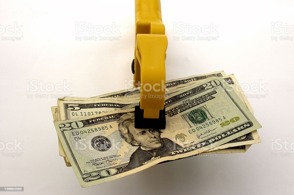 Money Squeeze royalty-free stock photo