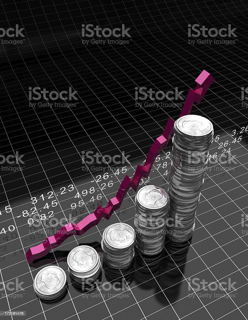 Money Stack Graph royalty-free stock photo
