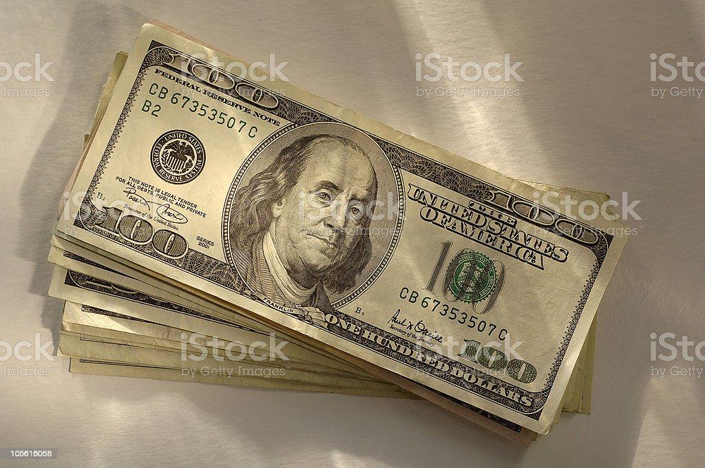 Montón de dinero foto de stock libre de derechos