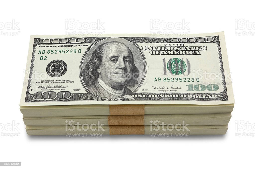 Money stack stock photo