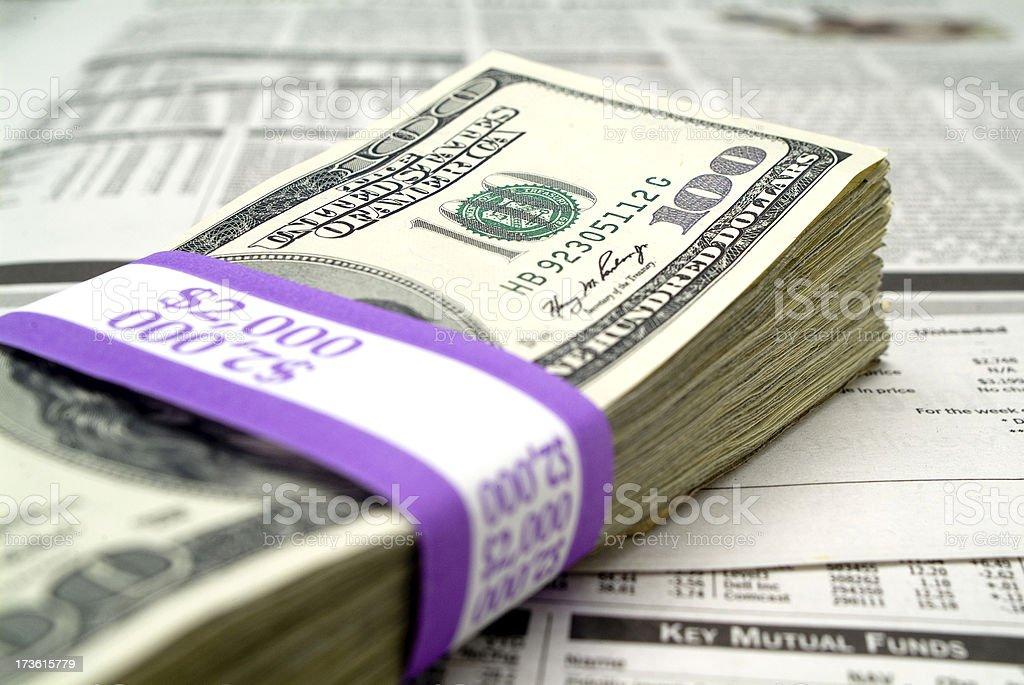 Money Stack Series royalty-free stock photo