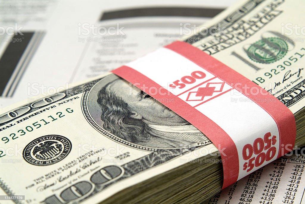 Money Stack Series stock photo