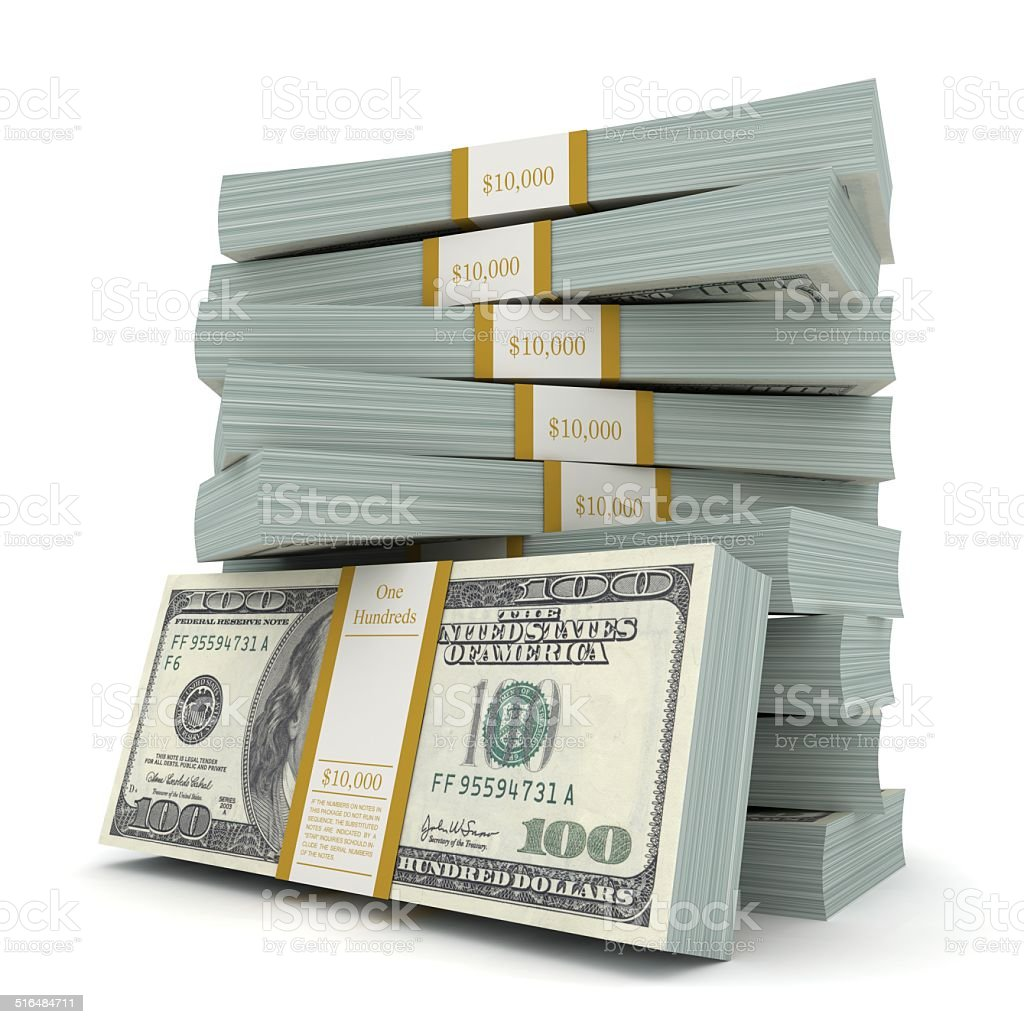 Money Stacks stock photo