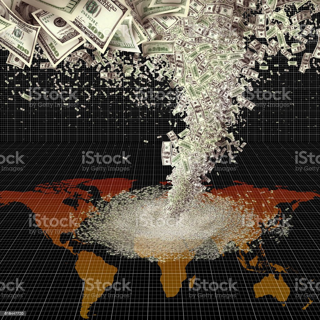 money storm stock photo