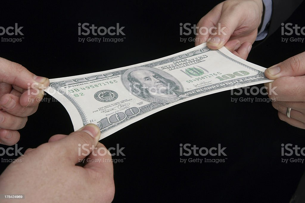 Money Stretching royalty-free stock photo