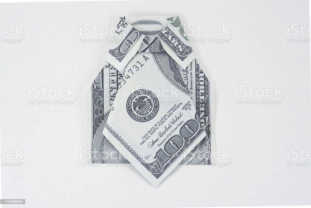 Geld-Anzug Lizenzfreies stock-foto