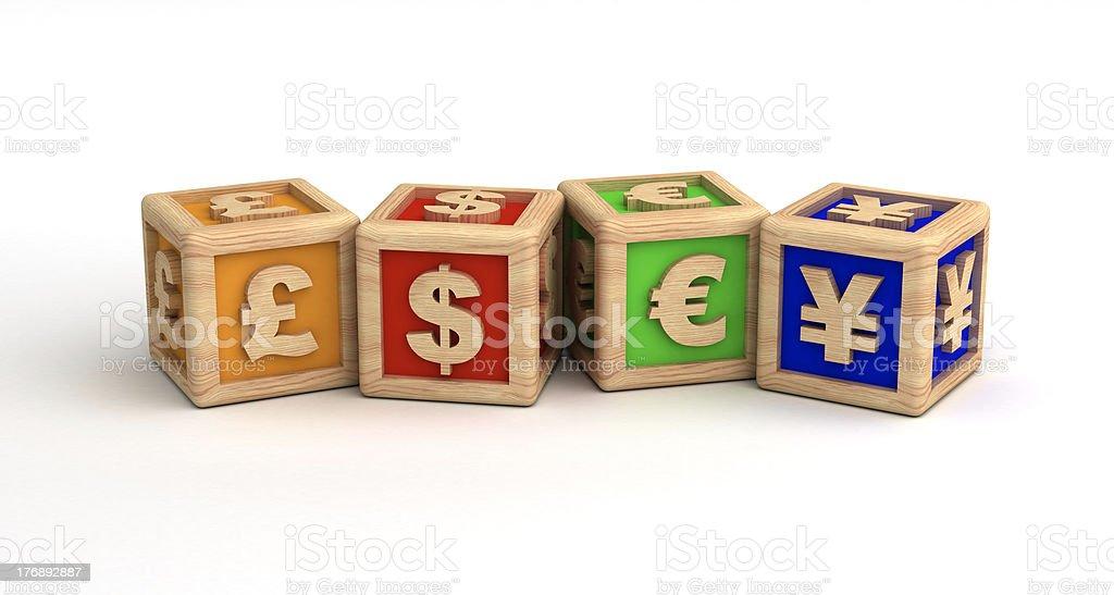 Money Symbols royalty-free stock photo