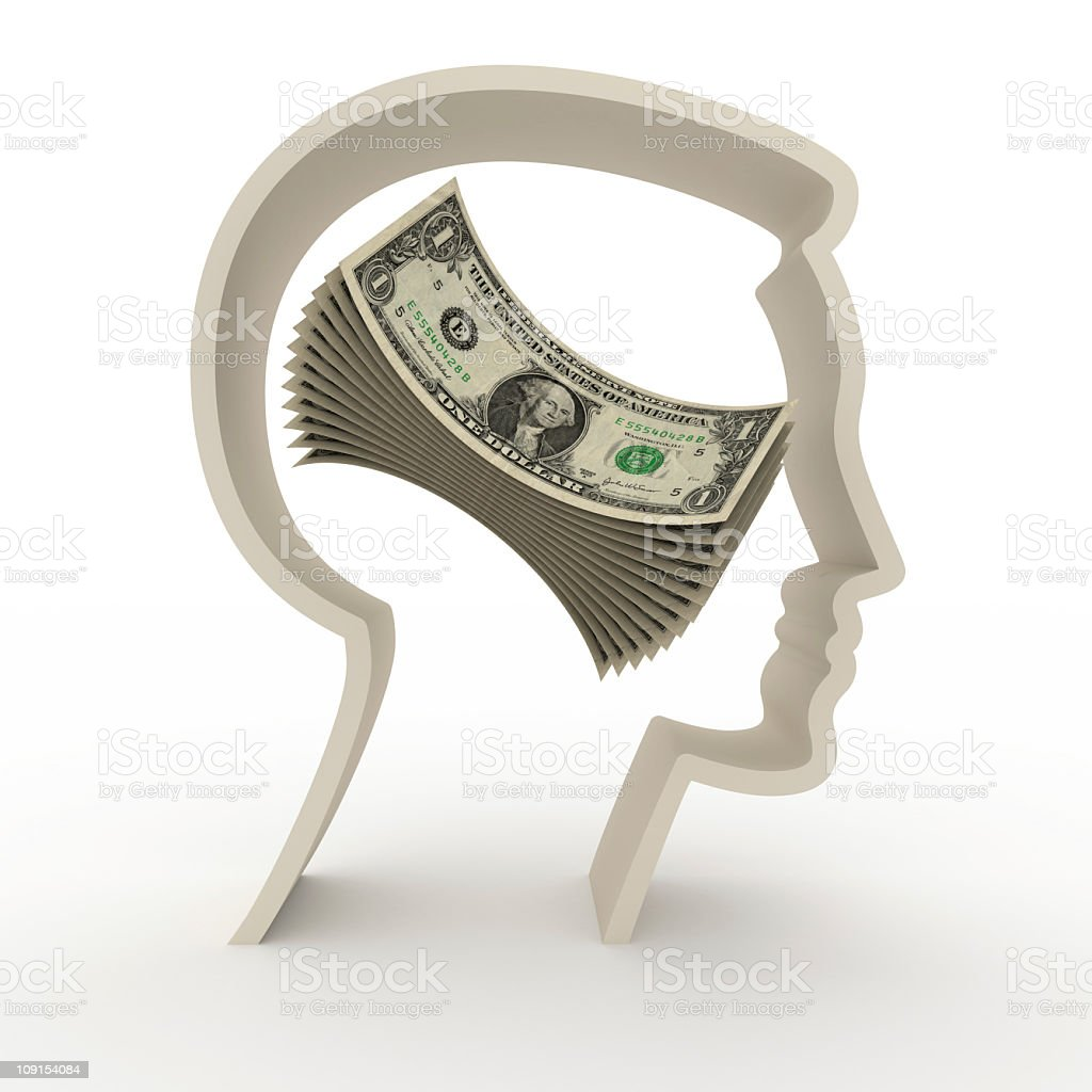 money thoughts royalty-free stock photo