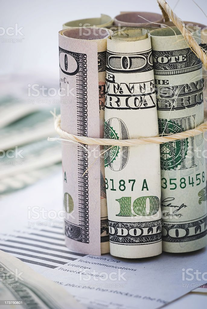Money tightening - II stock photo
