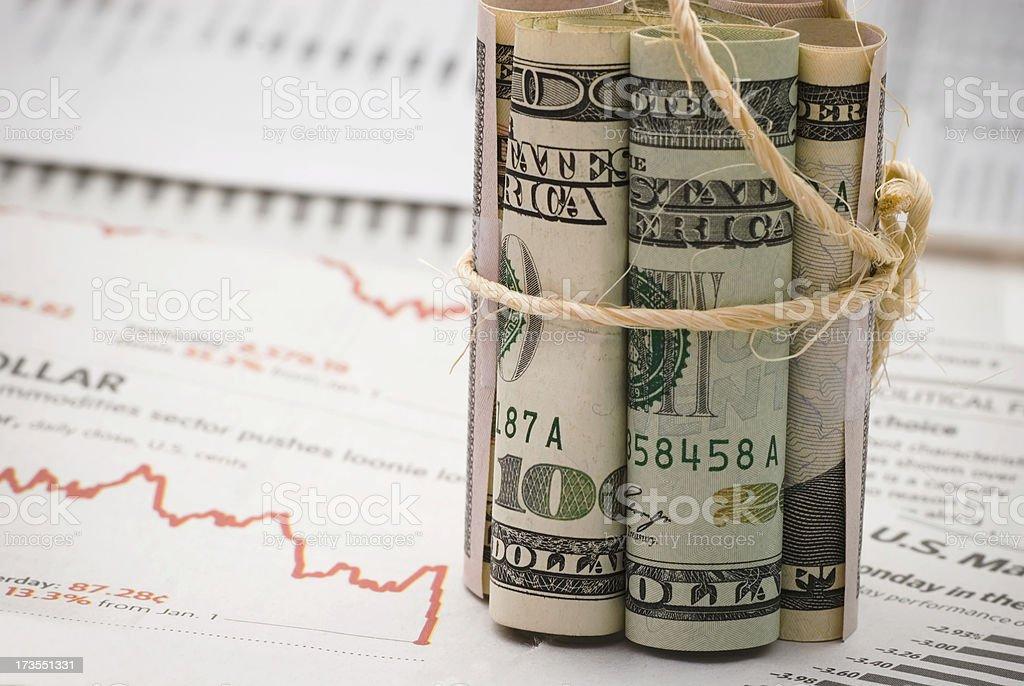 Money tightening - III stock photo
