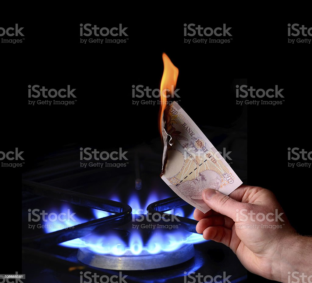 money to burn stock photo