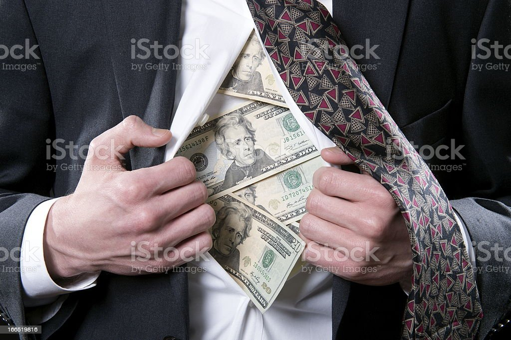 Money to Hide royalty-free stock photo