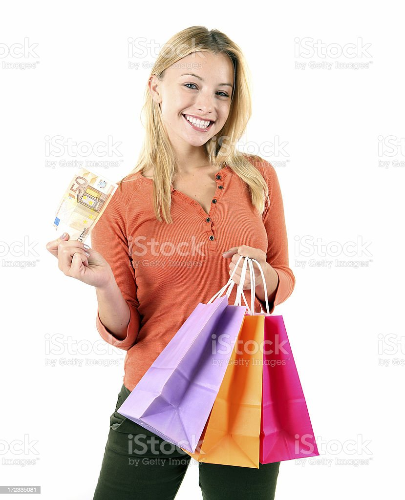 Money to spend royalty-free stock photo