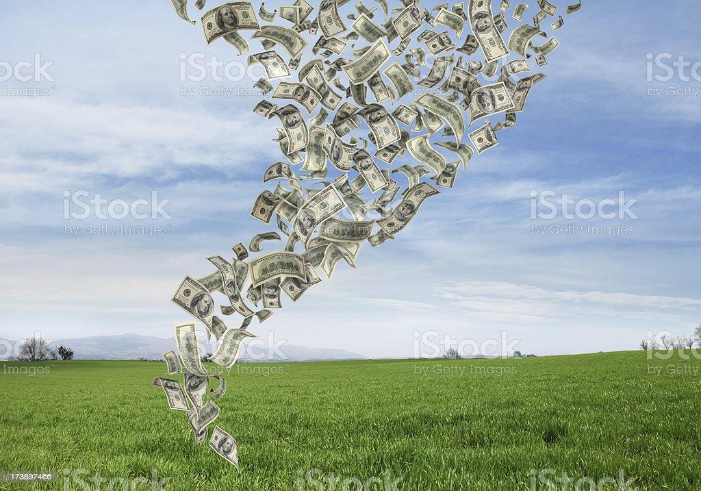 Money Tornado royalty-free stock photo