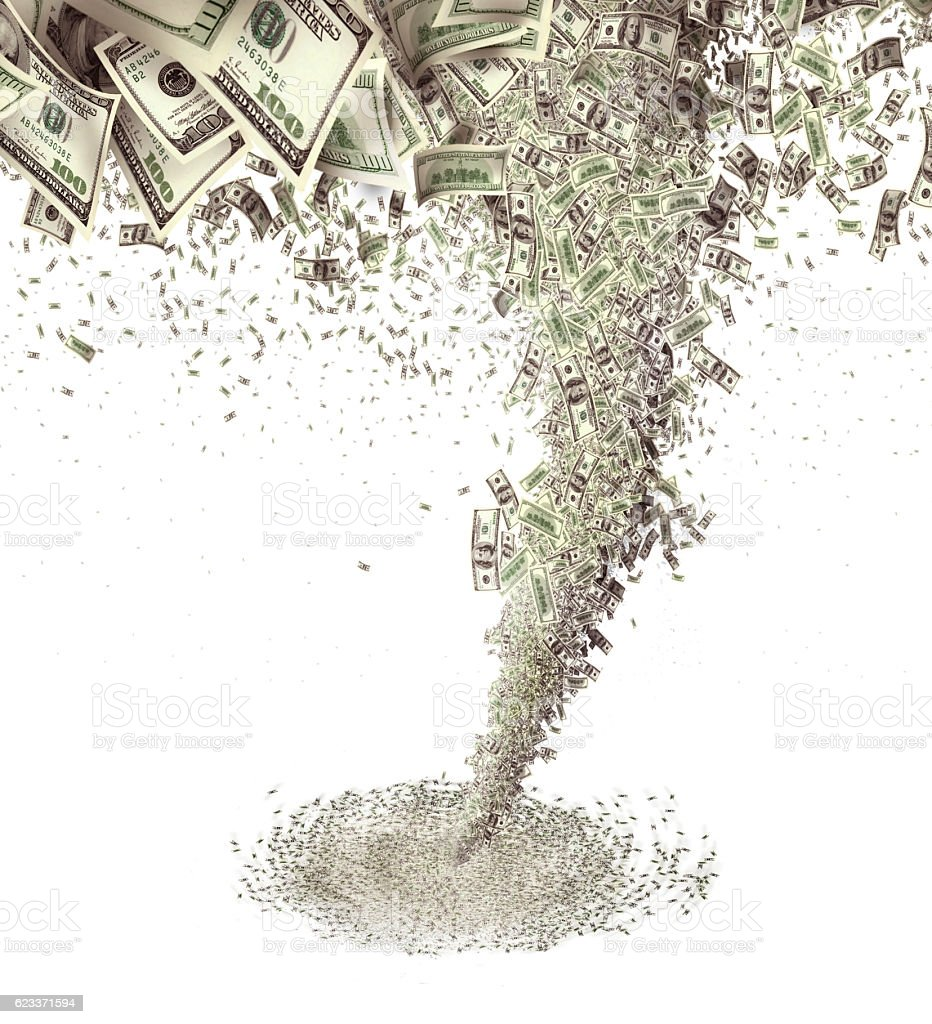 money tornado stock photo