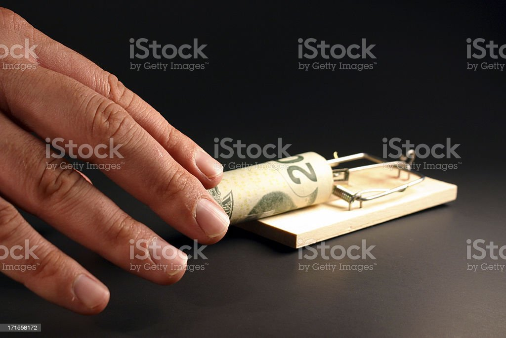 Money Trap royalty-free stock photo