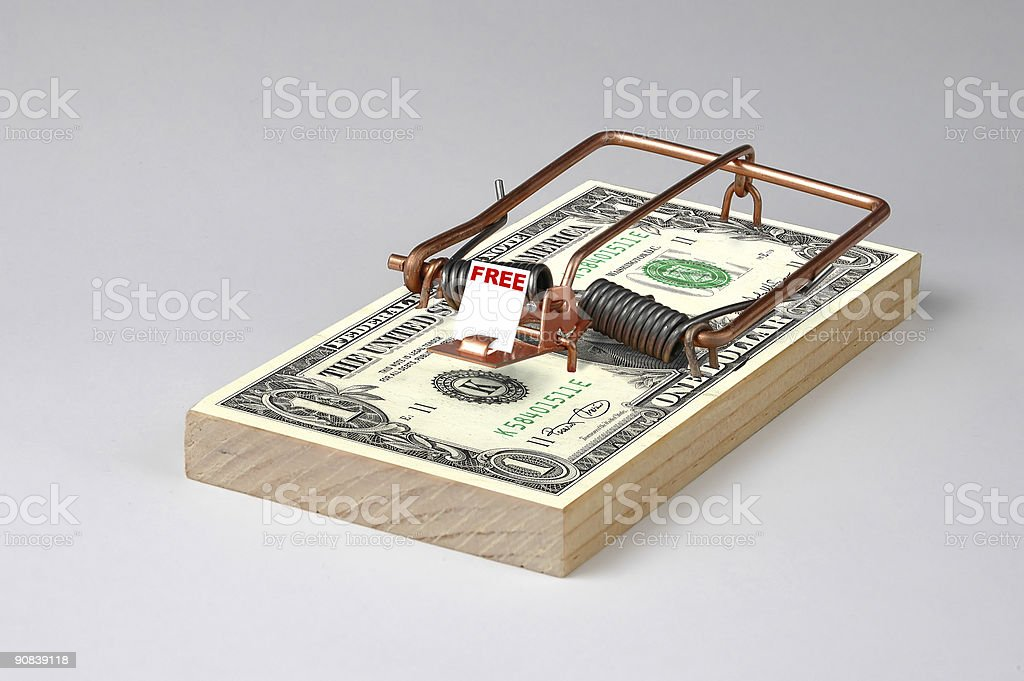 Money Trap royalty-free stock photo