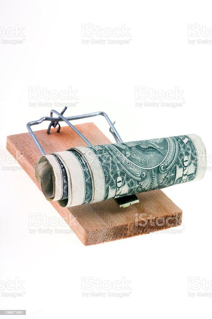 Money Trap. Predatory lending royalty-free stock photo
