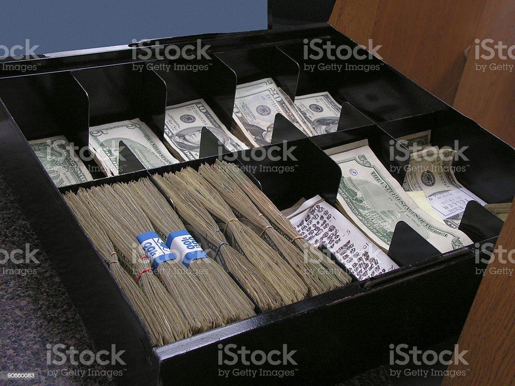 Money Tray royalty-free stock photo