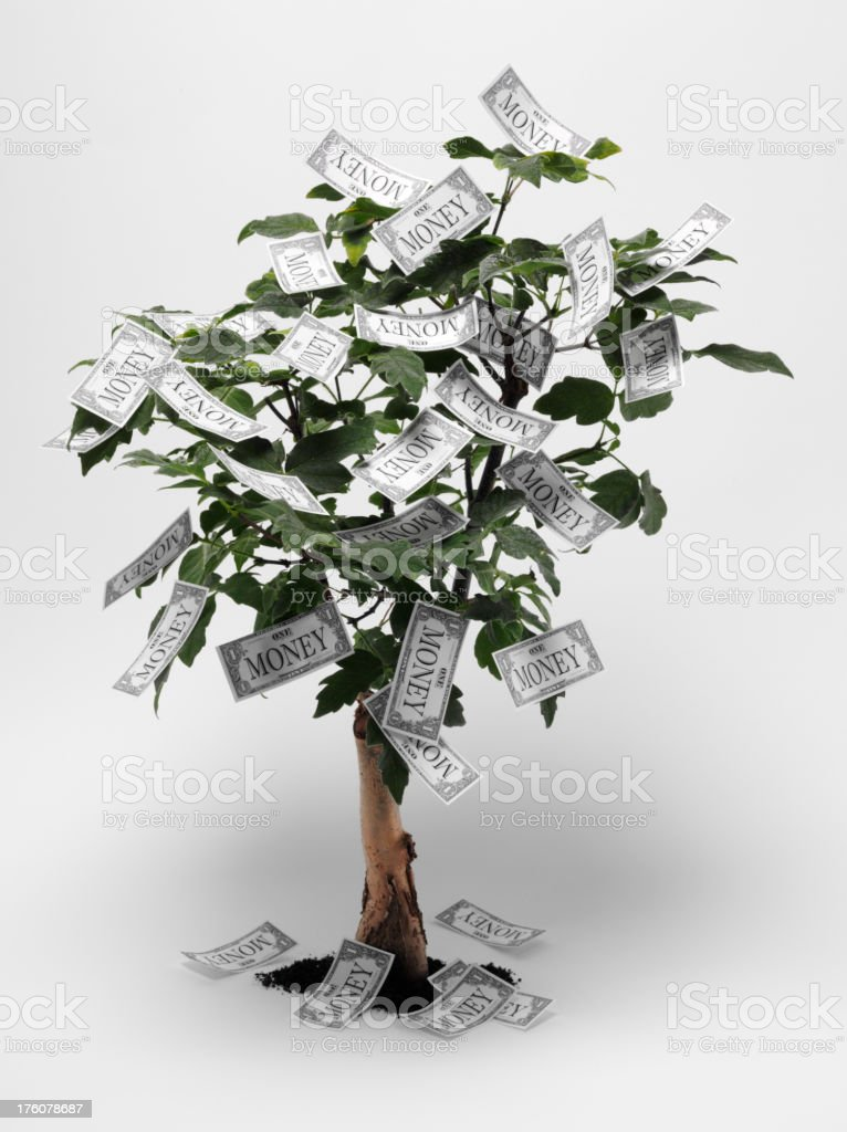 Money Tree with Generic Currency royalty-free stock photo