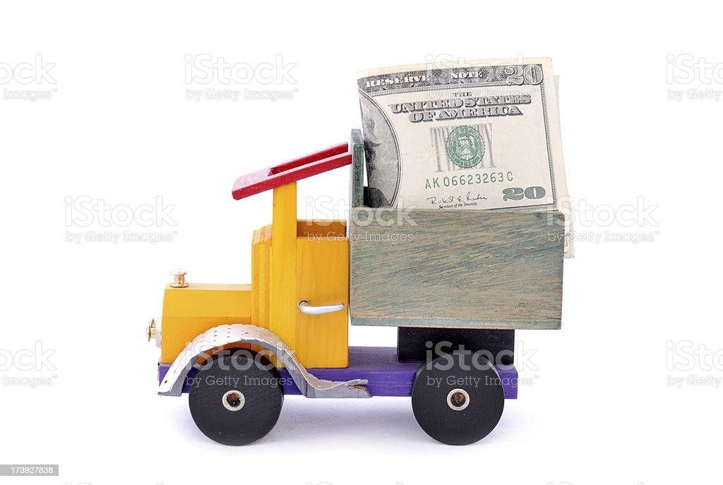 Money Truck royalty-free stock photo