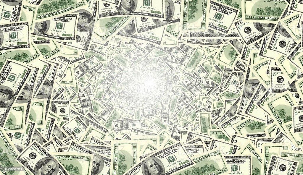 money tunnel royalty-free stock photo